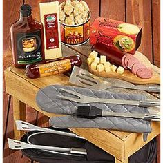 Grilling Tools and Snacks Gift Set