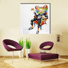 Pintada a mano AnimalModern Un Panel Lienzos Pintura al óleo pintada a colgar For Decoración hogareña 2017 - $92.99