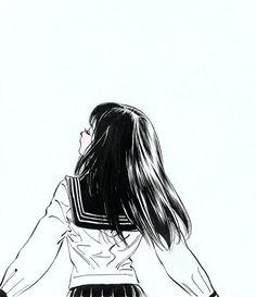 Sad Anime Girl, Manga Girl, Anime Art Girl, Chino Anime, Pink Wallpaper Anime, Gothic Anime, Anime Poses Reference, Japanese Cartoon, Anime Sketch