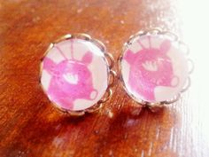 Reindeer stud earrings Christmas present gift by CreatedbyMonika, £7.00