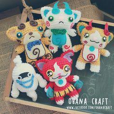 YoKai Watch inspired crochet doll https://www.facebook.com/OhanaCraft/