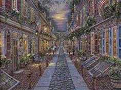 """robert finale paintings   Elfret's Alley"""""""