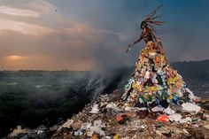 Fabrice Monteiro Travelled To The Most Polluted Places In Africa And Created Terrifying Characters Who Roamed Their Midst Dressed In Eerie Debris   https://fabricemonteiro.viewbook.com/