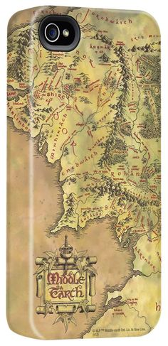 Middle Earth Map iPhone Case. *sigh* If only they made these for other kinds of phones.....