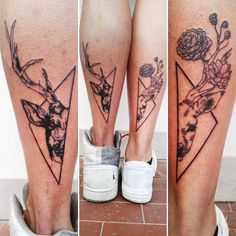 couple tattoo for legs