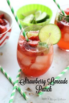 Strawberry Limeade Punch