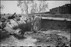 Sherman destroyed by a German Tiger I in Florence, Italy..… | Flickr