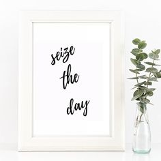 Seize the day don't let others ruin things for you. Live your life to the fullest! Need a reminder of this? You can get this printable wall art in my shop http://etsy.me/1WGIexl