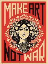Make Art Not War by Shepard Fairey print poster 18x24 inch