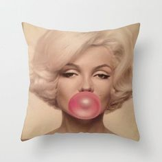 Marilyn Monroe Pillow by LuxuryLivingNYC on Etsy, $30.00