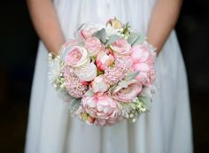Rose and peony bouquet. Handmade by Knot to Worry Bouquets.