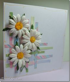 A good way to use scraps; I'd do something different than such large flowers