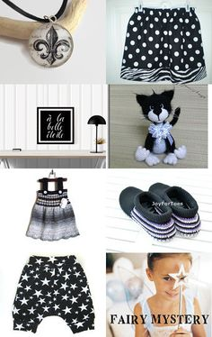 Black and White - Kids at Heart Team Treasury by Marcia on Etsy--Pinned with TreasuryPin.com