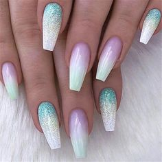 - Pastel Green Ombre and Glitter on Coffin Nails - Pictur REPOST - - - - Pastel Green Ombre and Glitter on Coffin Nails - - - - Pictur. -REPOST - - - - Pastel Green Ombre and Glitter on Coffin Nails - - - - Pictur. Winter Nails, Summer Nails, Acrylic Nail Designs, Nail Art Designs, Awesome Nail Designs, Coffin Nail Designs, Green Nail Designs, Cute Nails, Long Nails