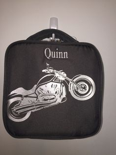 Cool Motorcycle Lunch Bag #fourpeasbackpacks #fourpeasonline #backtoschool #boyslunchbag