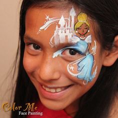 Cinderella Princess Face Painting - Color Me Face Painting - Vanessa Mendoza