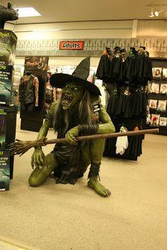 grim hollow haunt spirit halloween store 2008 crouching witchnow extremely hard - Spirit Halloween 2016