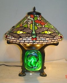 Dragonfly Tiffany Table Lamp | Tiffany Table Lamps, Dragonflies And Glass