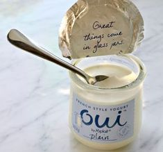 Oui jar: uses for them! This is good yogurt, but honestly, I buy it for the jar! Crafts With Glass Jars, Wine Bottle Crafts, Mason Jar Crafts, Mason Jar Diy, Pickle Jar Crafts, Small Glass Jars, Creative Crafts, Diy Crafts, Recycled Crafts