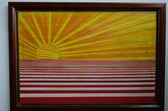 Jose Roberto Arraiz  Soleil de ma terre, 2015  Técnica: Acrilico /tela  Medidas: 80 x 120 cms  Firmada al dorso