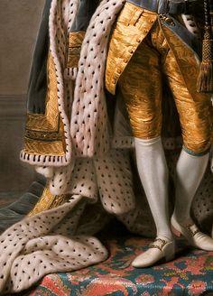 """ Allan Ramsay,King George III in coronation robes,detail,c.1765. """