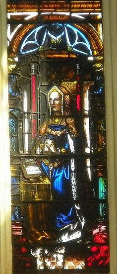 Stained Glass window showing Catherine of Aragon    St. Margaret's Church, Westminster. This may date from Catherine's lifetime.