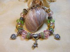 Mother's Day Bracelet European Style Beaded by TheresACharm4That, $42.00 #jenbnr #boebot