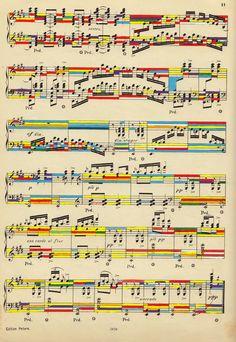 mike lemanski: sheet music in colour