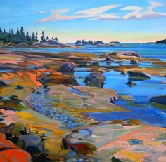 Jill Hoy, #Maine artist. Would love to visit her gallery on Stonington!