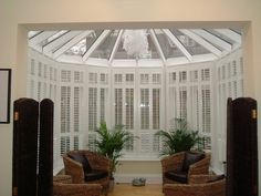 Shutter World craftsmen make quality conservatory shutters to suit your space shape and style. Buy for your conservatory roofs, glass buildings & more. Conservatory Roof, Glass Building, Shutters, Your Space, Craftsman, Master Bedroom, New Homes, Conservatories, Shapes