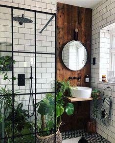 bohemian Bathroom Decor Trendy Bohemian Bathroom D - bathroomdecor Bad Inspiration, Bathroom Inspiration, Bathroom Inspo, Small Bathroom Ideas, Small Full Bathroom, Bathroom Interior Design, Interior Decorating, Kitchen Interior, Flat Interior Design