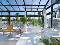 wintergarten terrassen ideen dachterrasse terrassenüberdachung glas