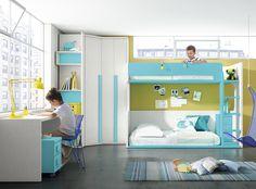 A los #niños les encanta compartir su habitación, todos los días o de forma ocasional. ¿Quieres una solución original? Echa un vistazo y verás como te enamoras. Para otras soluciones, tu tienda #Merkamueble.