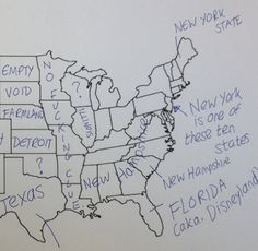 """""""We Asked Brits To Label The United States — We're So Sorry, America"""" I love that just about everyone gets Texas right."""