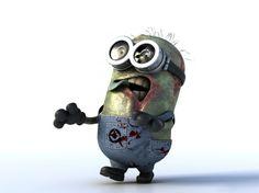 Un Minion como un zombie.