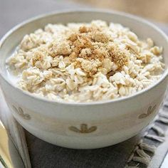 Oatmeal is a great breakfast option for people sticking to a low-acid diet. High in filling fiber, oats can help improve cardiovascular health and stabilize blood sugar, among other benefits. When topping off a hot bowl of oatmeal with fruit, remember to avoid ones high in acid, like strawberries, blueberries, and cranberries. via EverydayHealth