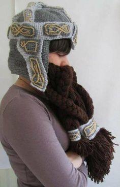 Dwarf Beard Helmet Hat