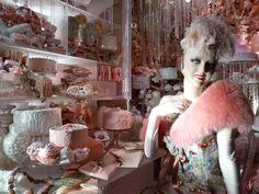 2013 Pink cake lady closeup in Bergdorf's Xmas display window Window Display Retail, Window Displays, Retail Store Design, Retail Stores, Store Displays, Retail Displays, Visual Merchandising Displays, Store Windows, Retail Interior