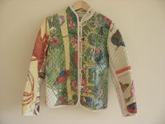 Chinese collar quilted jacket. Australiana jacket. folk jacket. Tourist souvenir jacket. Australia jacket