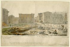 The Townley Gallery and the erecting of the new gallery, 1828.
