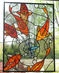 Koi Stained Glass Panel 2 by ~trilobiteglassworks on deviantART