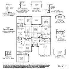 Plan 7225 1st Floor Plan - Hunters Glen