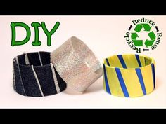 DIY 3 Bracelets out of a Recycled Plastic Bottle