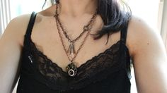 Adjustable steam punk necklace. How to make... https://youtu.be/WfKe2u9Aq1I