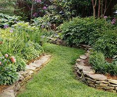 like the stones as a border