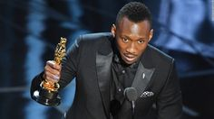 """Mahershala Ali accepts his best supporting actor Oscar for his role in  """"Moonlight."""""""