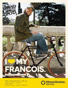 """I LOVE MY FRANCOIS"" Gaston Gaudio - Tenista Gaston, Old School, Monochrome, Baby Strollers, Thats Not My, Bike, My Love, Children, Shopping"