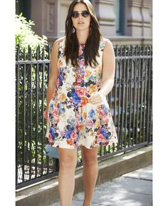 b2f92f91ca4 Simply Be Drop Waist Floral Tunic Dress at Simply Be Plus Size Bomber  Jacket