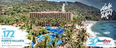 El hotel Barceló Puerto Vallarta es un elegante resort categoría premium de estilo mexicano sobre la playa Mismaloya, con impresionantes vistas a la Bahía de Banderas. Sus 316 amplias y lujosas habitaciones están divididas en 179 junior suites, 109 suites familiares, 13 suites master, 12 suites grand master y 3 suites presidenciales. #PuertoVallarta #OjalaEstuvierasAqui  #BestDay