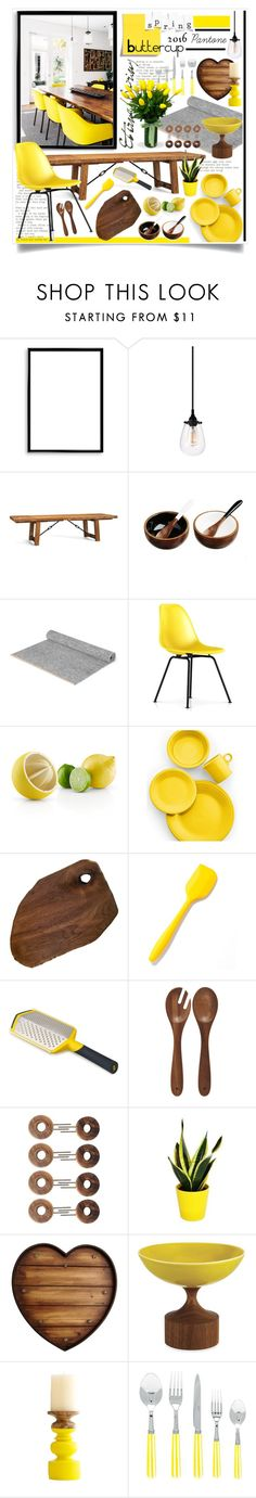 """Buttercup Dining"" by hmb213 ❤ liked on Polyvore featuring interior, interiors, interior design, home, home decor, interior decorating, Bomedo, Sonneman, Pottery Barn and Just Slate Company"
